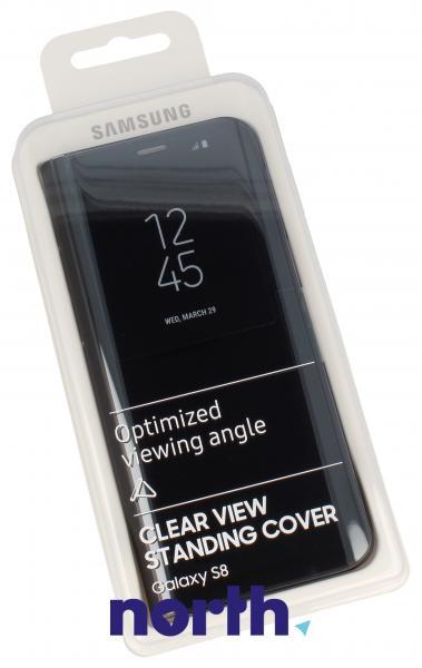 Pokrowiec | Etui Clear View Cover do smartfona Galaxy S8 SM-G950F EFZG950CBEGWW (czarny),0