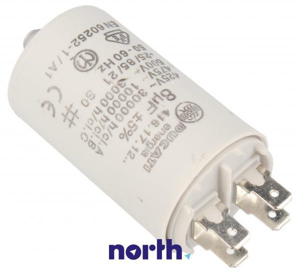 Kondensator rozruchowy 8,0UF400450VFASTON6,3MM,1