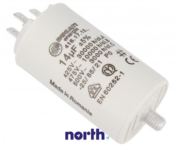 Kondensator rozruchowy 14,0UF400450VFASTON6,3MM,0