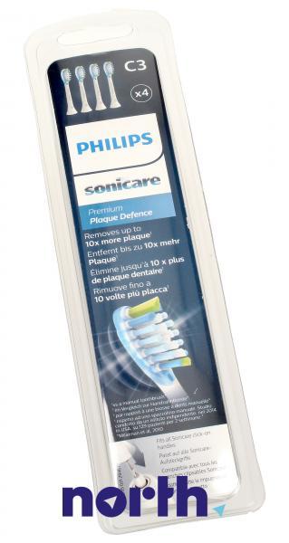 Końcówki Sonicare C3 HX9044/17 Premium Plaque Defence Standard do szczoteczki do zębów (4szt.) Philips HX904417,4