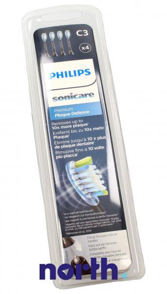 Końcówki Sonicare C3 HX9044/33 Premium Plaque Defence Standard do szczoteczki do zębów (4szt.) Philips HX904433,3