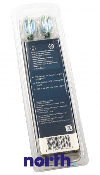 Końcówki Sonicare C3 HX9044/33 Premium Plaque Defence Standard do szczoteczki do zębów (4szt.) Philips HX904433,4