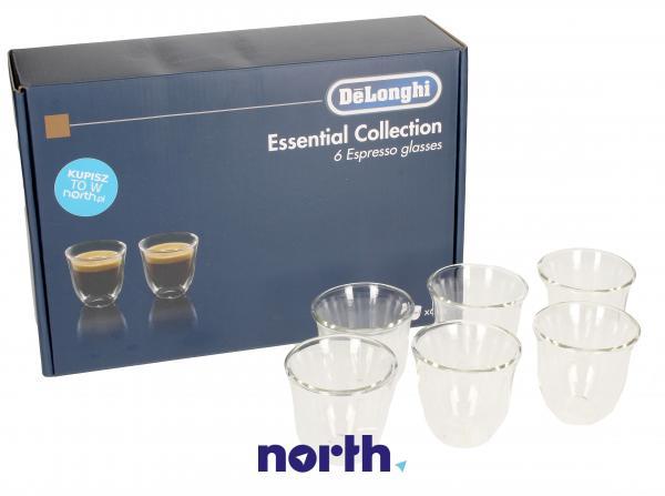 DLSC300 Szklanki do kawy Espresso 6szt. (60ml) do ekspresu do kawy,0