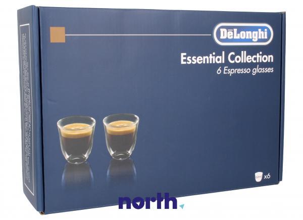DLSC300 Szklanki do kawy Espresso 6szt. (60ml) do ekspresu do kawy,1