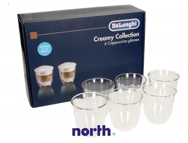 DLSC301 Szklanki do kawy Cappuccino 6szt. do ekspresu do kawy,0