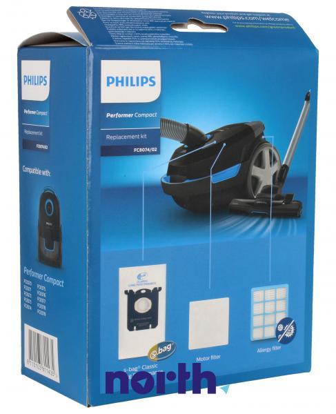 Worki FC8074/02 (3szt.) + filtry wlotowy / wylotowy (2szt.) do odkurzacza Philips FC807402,1