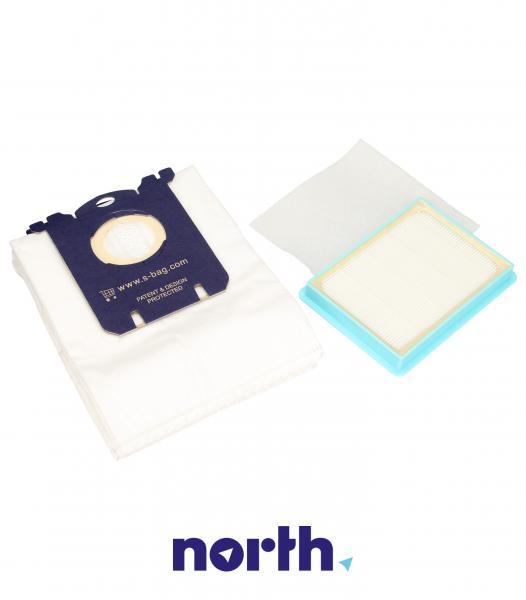Worki FC8074/02 (3szt.) + filtry wlotowy / wylotowy (2szt.) do odkurzacza Philips FC807402,3