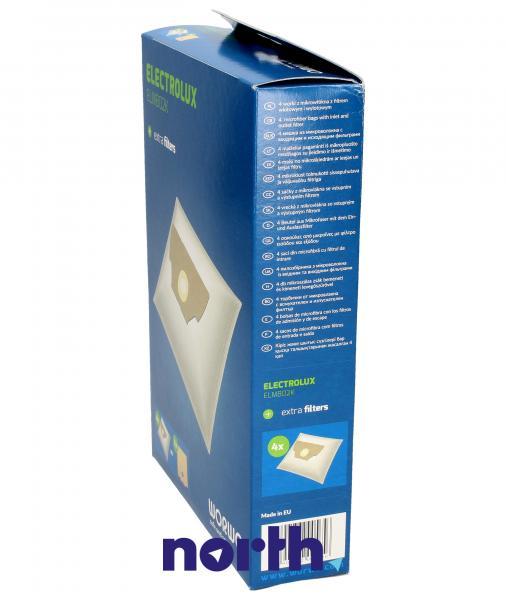 Worki Perfect Bag Worwo EL02 (4szt.) + filtr wlotowy / wylotowy (2szt.) do odkurzacza Electrolux ELMB02K,2