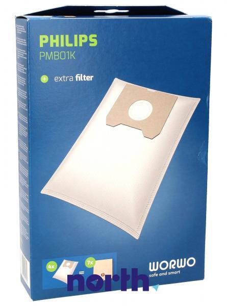 Worki Perfect Bag Worwo (4szt.) + filtr wlotowy (1szt.) do odkurzacza PMB01K,0