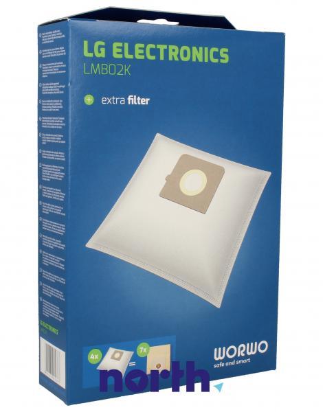 Worki Perfect Bag Worwo (4szt.) + filtr wlotowy do odkurzacza LMB02K,0