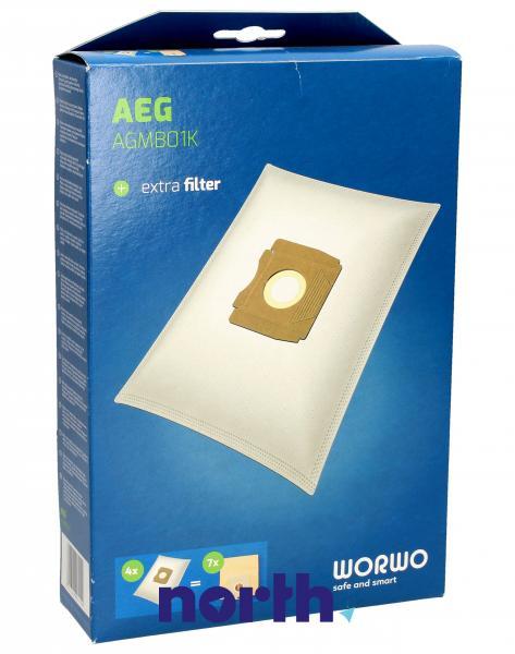 Worki Perfect Bag Worwo (4szt.) + filtr wlotowy (1szt.) do odkurzacza AGMB01K,0