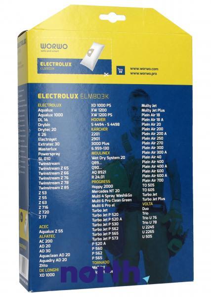 Worki Power Bag Worwo (5szt.) do odkurzacza ELMB03K,1