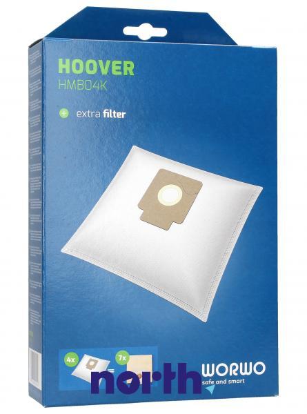 Worki Perfect Bag Worwo (4szt.) + filtr wlotowy (1szt.) do odkurzacza HMB04K,0