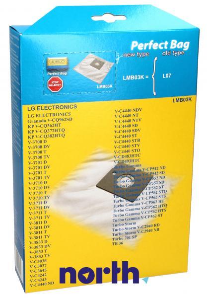 Worki Perfect Bag Worwo (4szt.) + filtr wlotowy do odkurzacza LMB03K,1
