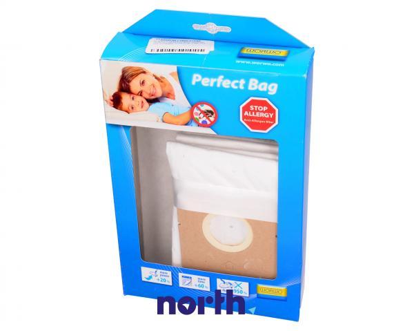 Worki Perfect Bag Worwo (4szt.) + filtr wlotowy do odkurzacza RLMB01K,0