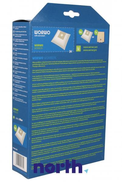 Worki Perfect Bag Worwo (4szt.) + filtr wlotowy (1szt.) do odkurzacza WOMB01K,1