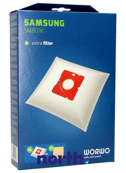 Worki Perfect Bag Worwo SMB01K (4szt.) + filtr wlotowy do odkurzacza SMB01K,0