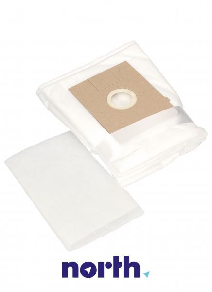 Worki Perfect Bag Worwo K (4szt.) + filtr wlotowy (1szt.) do odkurzacza Siemens SBMB03K,2