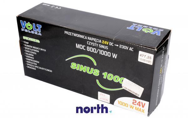 SINUS1000 24V przetwornica 24V/230V 1000W/750W czysty sinus,0