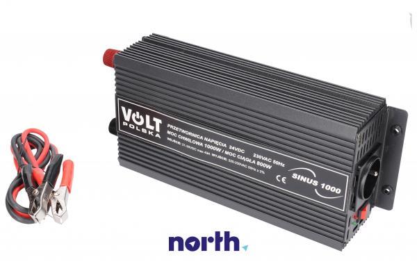 SINUS1000 24V przetwornica 24V/230V 1000W/750W czysty sinus,1