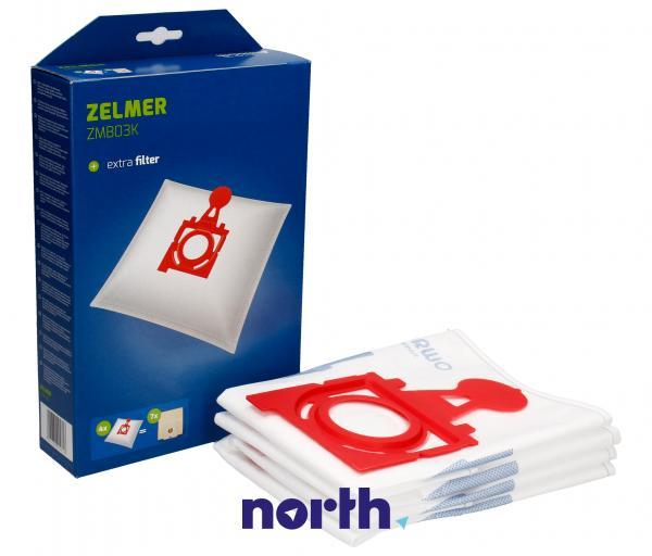 Worki Perfect Bag Worwo ZMB03K (4szt.) + filtr wlotowy do odkurzacza Zelmer ZMB03K,0