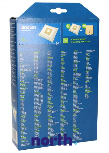 Worki Perfect Bag Worwo (4szt.) + filtr wlotowy (1szt.) do odkurzacza EMB419K,1