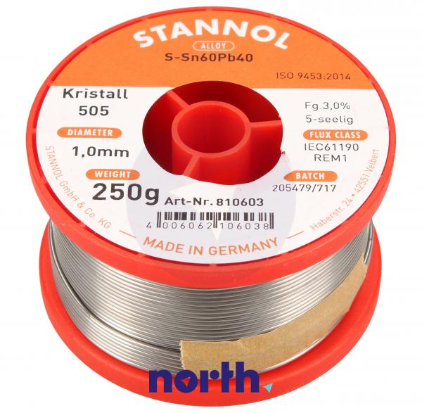 Cyna 1mm 250g Stannol - 60/40 Krystall,0