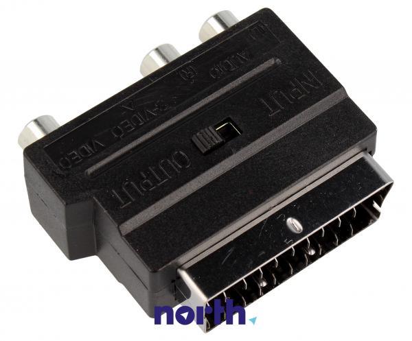 Adapter przełącznik SCART - CINCH (wtyk//S-VIDEO gniazdo x3/gniazdo) standard,1