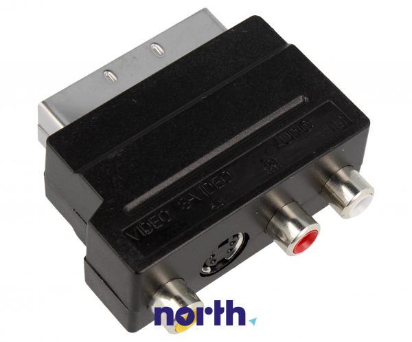 Adapter przełącznik SCART - CINCH (wtyk//S-VIDEO gniazdo x3/gniazdo) standard,2