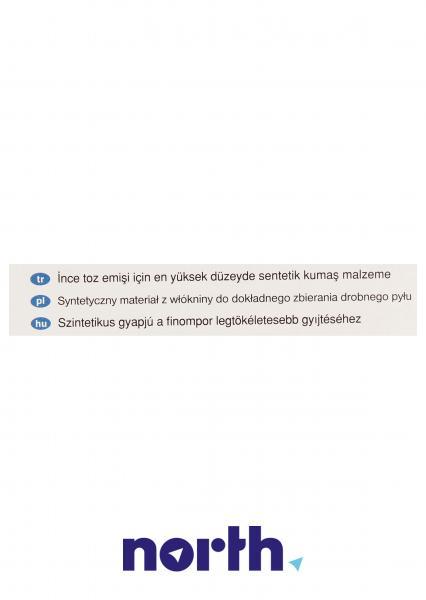 Worek BBZ41FK mikrofiltr do odkurzacza 4szt. - oryginał: 00468265,2