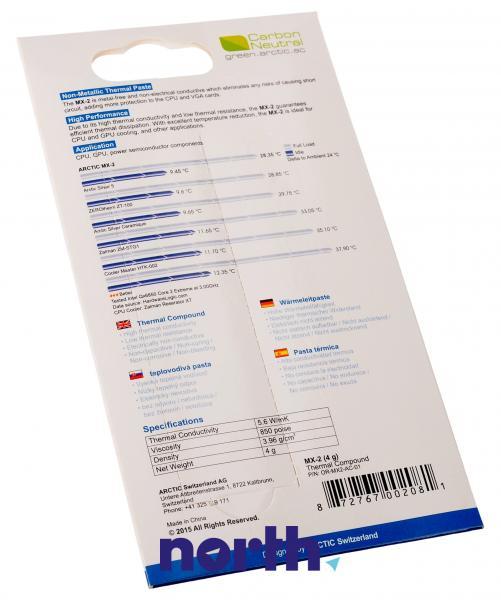 Preparat termoprzewodzący (pasta) MX-2 Arctic Cooling ORMX2AC01 4g,1