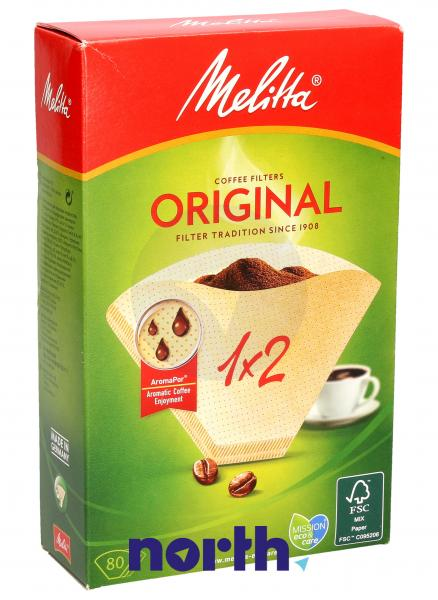 Filtr papierowy No.1x2 (80szt.) do ekspresu do kawy MEL0100762,0