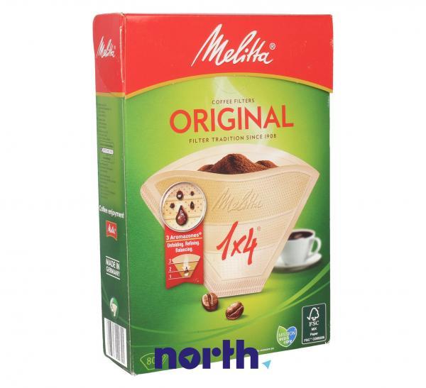 Filtr papierowy No.1x4 (80szt.) do ekspresu do kawy MEL0109761,0