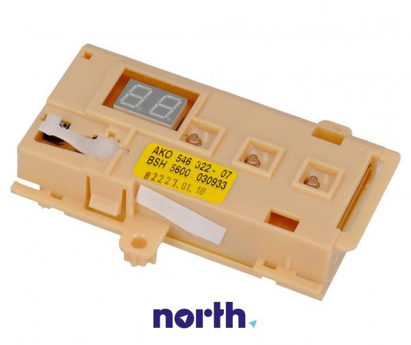 Moduł   Wyświetlacz sterujący obudowie do zmywarki 00174801,0