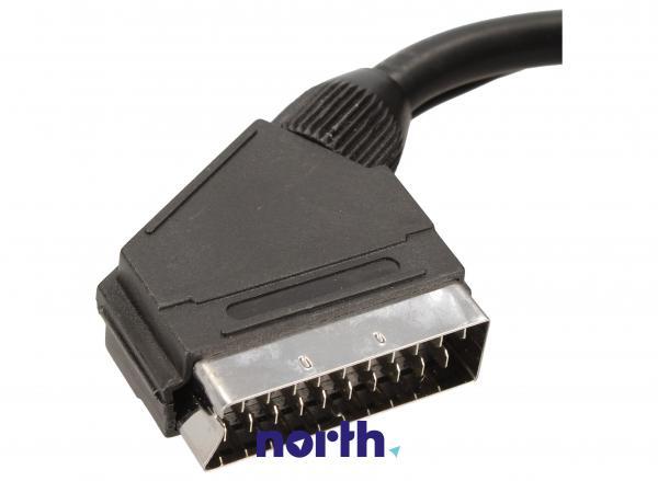 Kabel 1.5m SCART - SCART (wtyk//CINCH wtyk/wtyk x2) standard,1