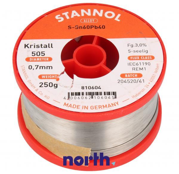 Cyna 0.7mm 250g Stannol - 60/40,0