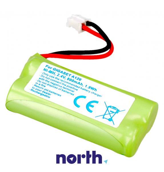CPAA24021 Akumulator 2.4V 800mAh telefonu bezprzewodowego,0