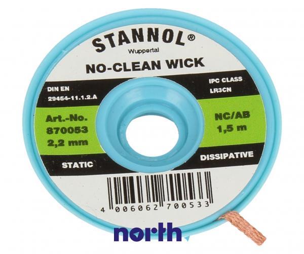 2.2mm Taśma do rozlutowywania Stannol (1.5m),0