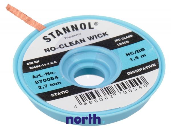 2.7mm Taśma do rozlutowywania Stannol (1.5m),0