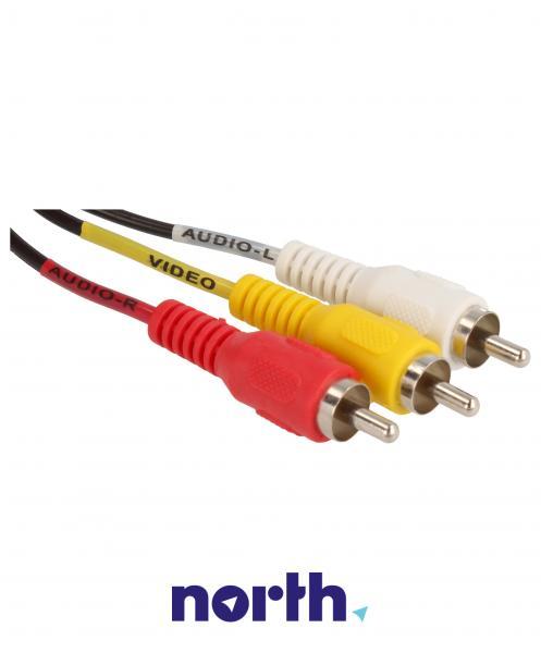 Kabel 1.5m CINCH - JACK (wtyk x3/3.5mm 4 pin wtyk),1