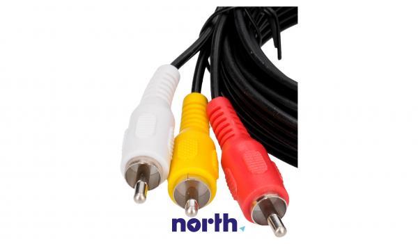 Kabel CINCH 2m (wtyk x3/ wtyk x3) standard,1