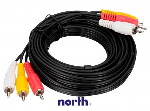 Kabel CINCH 5m (wtyk x3/ wtyk x3) standard,0