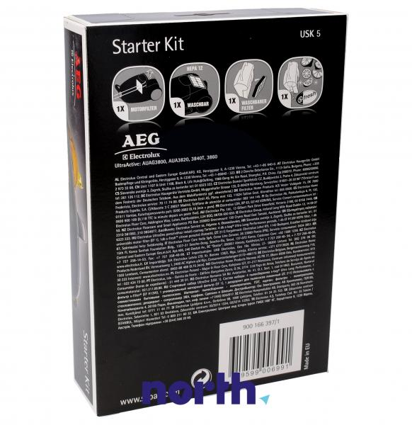 Zestaw startowy: filtry, wkład zapachowy USK5 do odkurzacza 9001663971,1