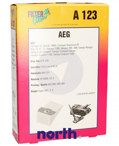 Worek do odkurzacza A123 AEG 5szt. (+filtr) 000049K,0
