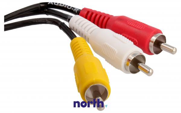 Kabel 2m SCART - CINCH (wtyk/ wtyk x3) standard,1