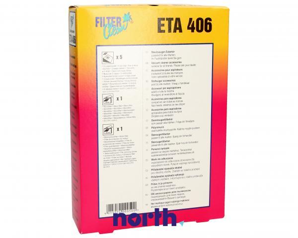 Worek ETA406 2 filtry do odkurzacza 5szt. - oryginał: 000062K,1