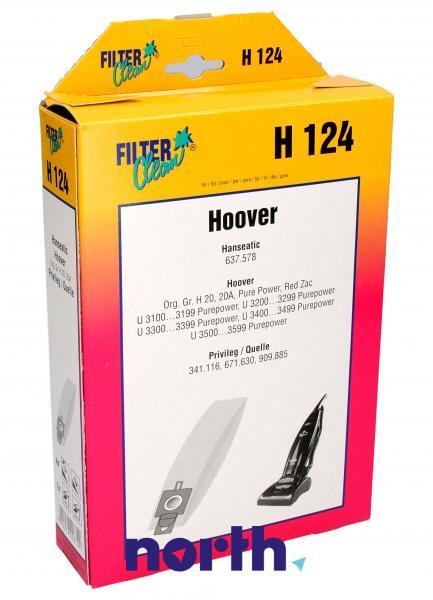 Worek do odkurzacza H124 Hoover 4szt. (+2 filtry) 000166K,0
