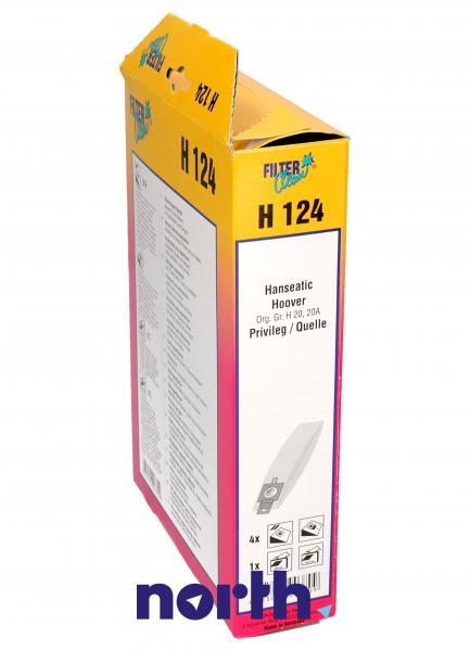 Worek do odkurzacza H124 Hoover 4szt. (+2 filtry) 000166K,2