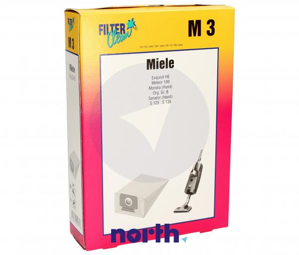 Worek do odkurzacza M3 Miele 8szt. (+2 filtry) 000105K,0
