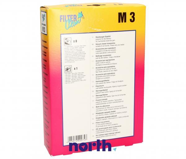 Worek M3 2 filtry do odkurzacza 8szt. - oryginał: 000105K,1